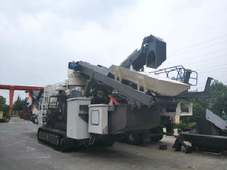 Mobile Stone Crusher Machine By The Construction Site Or